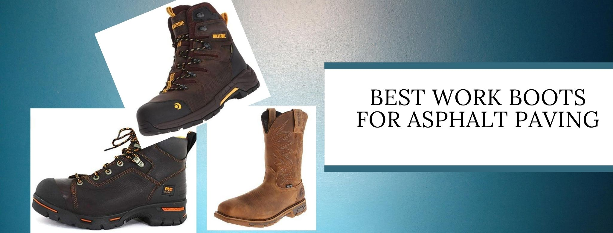 Comfortable boots for heavy work